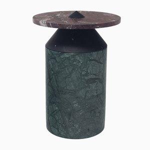 Totem Couchtisch aus Rosso Levanto & Nero Marquinua Marmor in imperialem Grün von Karen Chekerdjian für MMairo