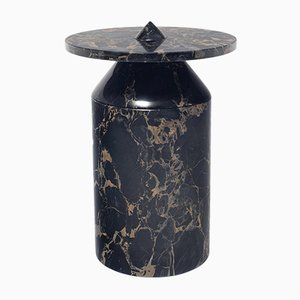 Totem Coffee Table in Portoro Nero Marble by Karen Chekerdjian for MMairo