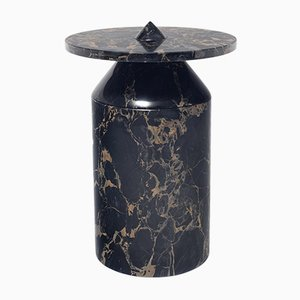 Totem Coffee Table in Black Portoro Marble by Karen Chekerdjian for MMairo