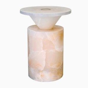 Totem Couchtisch in weißem Onyx von Karen Chekerdjian für MMairo