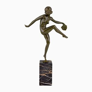 Scultura Art Déco in bronzo di Pierre Laurel per Guillemard Foundry, anni '20