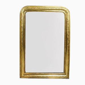 Antiker vergoldeter & geätzter Spiegel