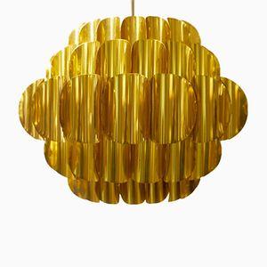 Lampada in ottone di Verner Schou per Coronell Elektro, anni '70