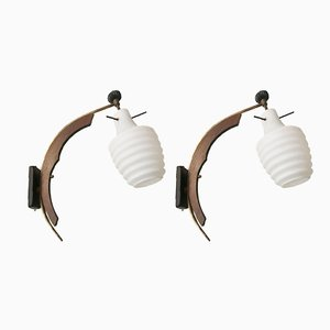 Vintage Wandlampen von Stilnovo, 2er Set