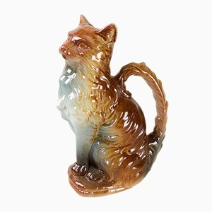 Vintage French Cat Pitcher from St. Clément Pottery