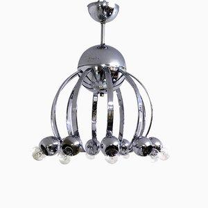 Lámpara de araña vintage de cromo