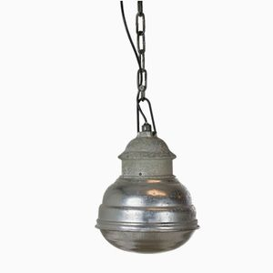Suspension Industrielle Vintage en Verre