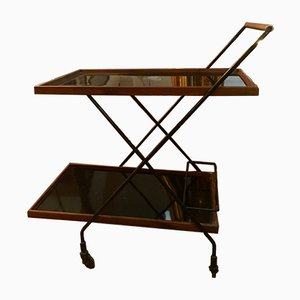 Wood & Formica Bar Cart, 1950s