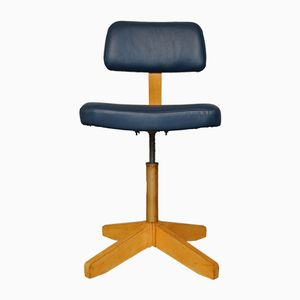 Bauhaus Architect's Swivel Chair from VEB Bemefa, 1960s