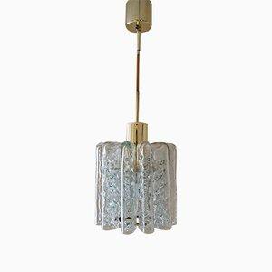 Lámpara colgante Mid-Century de cristal de Murano de Doria Leuchten, años 60
