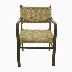 Vintage Braided Armchair, 1960s