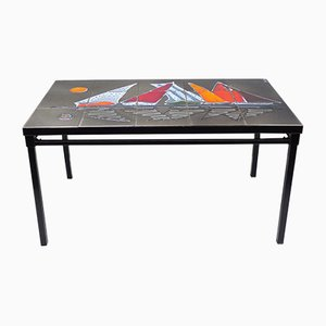 Enameled Earthenware Coffee Table, 1950s