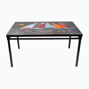 Table Basse en Céramique Émaillée, 1950s