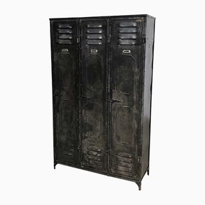 Vintage Riveted 3-Door Locker from Schwartz Haumont