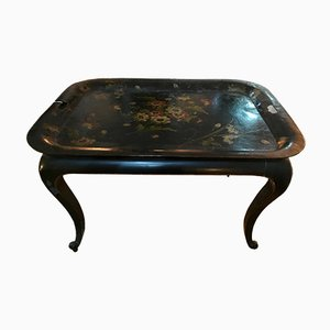 Spanish Hand-Painted Tray Table, 1950s