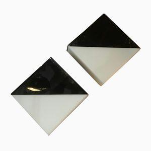 Wandleuchten aus Opalglas von Raak, 1970er, 2er Set