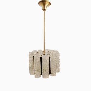Lampe à Suspension Mid-Century avec Tube en Verre