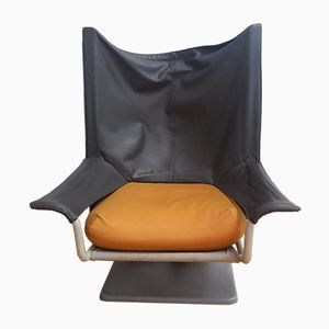 Aeo Leather Lounge Chair by Archizoom & Paolo Deganello for Cassina, 1970s