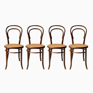 Vintage No. 14 Bistro Chairs from Fischel, Set of 4