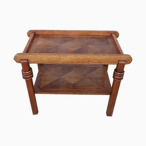 Art Deco Oak Console Table par Charles Dudouyt, 1940s
