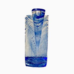 Portacandela Ice Age vintage in vetro di Kjell Engman per Kosta Boda