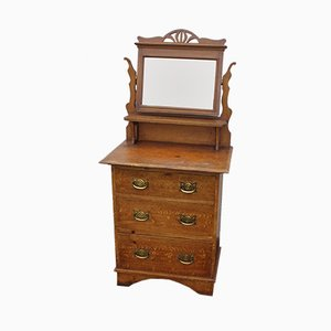 Antique Pine Dressing Table, 1910s