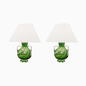 Murano Glass Table Lamps from Joska, 1960s, Set of 2