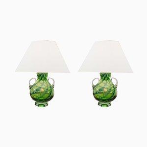 Tischlampen aus Muranoglas von Joska, 1960er, 2er Set