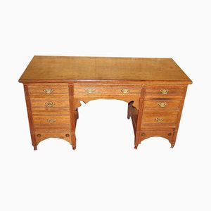 Oak Pedestal Desk, 1920s