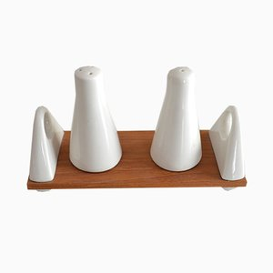 Porcelain Salt & Pepper Set by Peter Müller for Sgarfo Modern, 1960s
