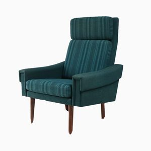 Mid-Century Danish High Backed Armchair