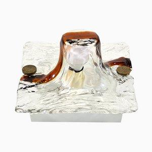 Lámpara de pared de cristal de Murano de Toni Zuccheri para Venini, años 70