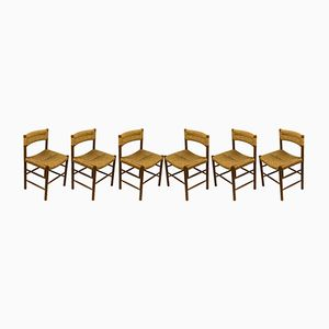 Dordogne Dining Chairs by Charlotte Perriand for Sentou, 1950s, Set of 6