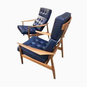 FD164 Lounge Chairs by Arne Vodder for France & Son, 1960s, Set of 2