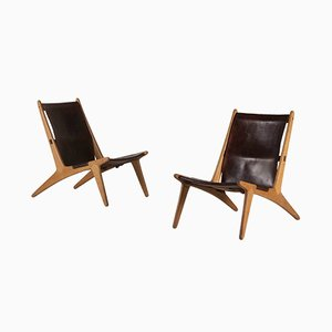 Model 204 Hunting Chairs by Uno & Östen Kristansson for Luxus, 1950s, Set of 2
