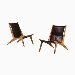 Modell 204 Hunting Chairs von Uno & Östen Kristansson für Luxus, 1950er, 2er Set
