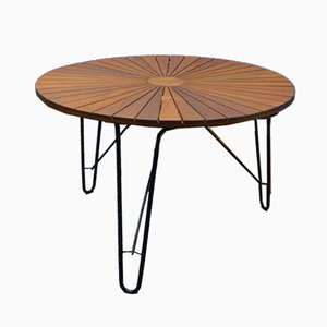 Table de Jardin ou Table de Salle à Manger en Teak, Danemark, 1960s