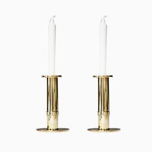 Vintage Kerzenhalter aus Messing von Sigurd Persson, 2er Set