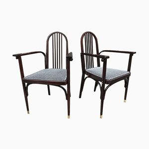 Vienna Secession Armchairs by Josef Hoffmann for Jacob & Josef Khon, 1900s, Set of 2