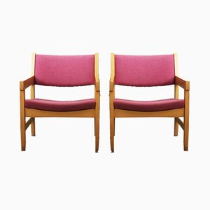 Chaises en Hêtre par Hans J Wegner, Danemark, 1970s, Set de 6