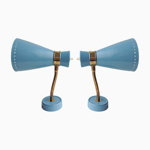 Wall Lamps from VEB Leuchtenbau, 1962, Set of 2