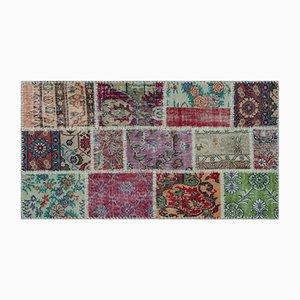 Vintage Patchwork Carpet, 1960s
