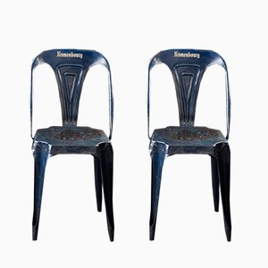 Vintage Bistrot Chairs by Joseph Mathieu for Multipls, Set of 2