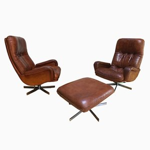 S 231 2 Armchairs & Ottoman from de Sede, 1960s