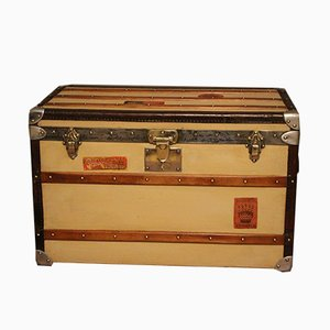 Beige Steamer Trunk from Moynat, 1930s