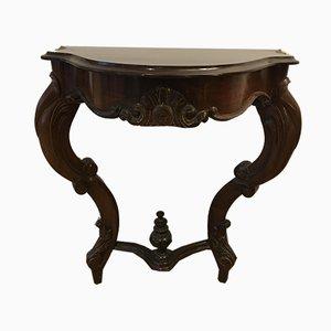 Table Console 19th-Century en Bois Exotique