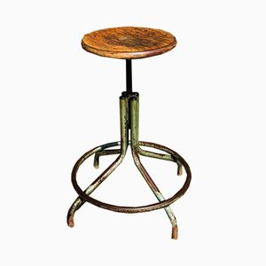 Vintage French Industrial Stool