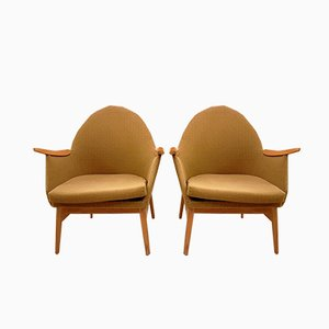 French Beech Armchairs, 1960s, Set of 2