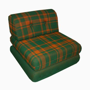 Chequered Daybed Lounge Chair, 1970s