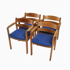 Danish Chairs from FDB Mobler, 1970s, Set of 4